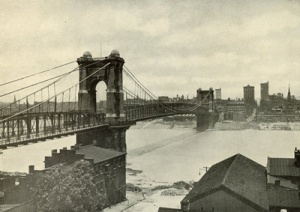 The Covington-Cincinnati Suspension Bridge